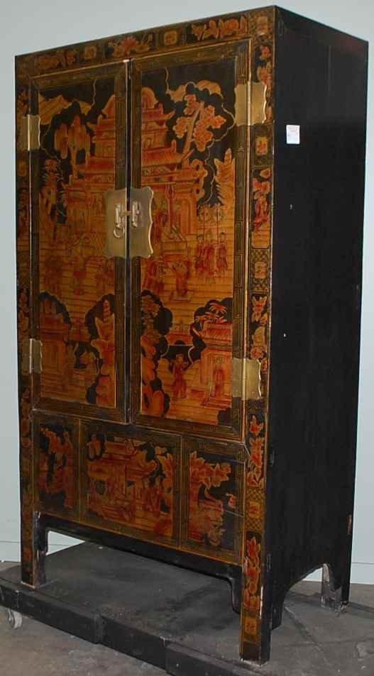 14: Oriental Decorated Temple Cabinet