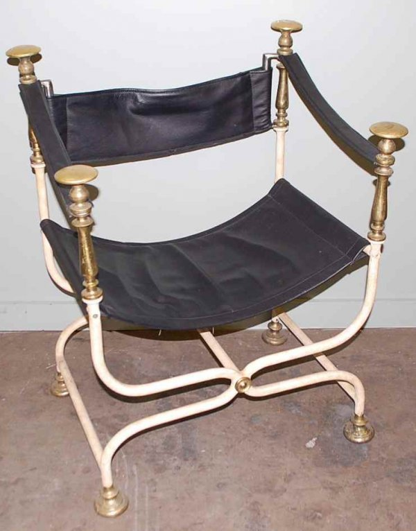 18: Set of Four Iron Directors Chairs