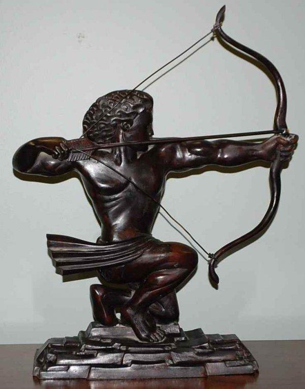 19: Bronze Art Deco Style Archer
