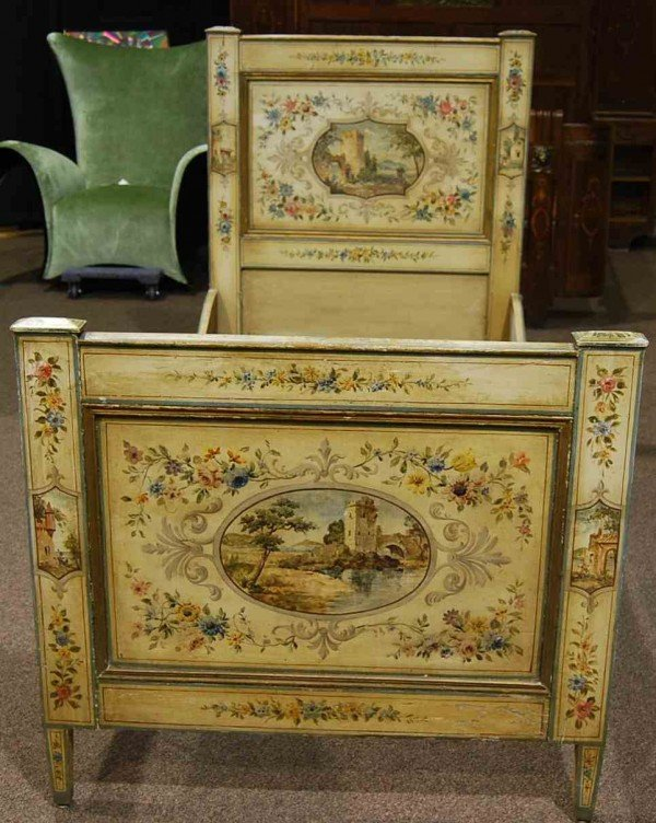 22: Hand Painted European Single Bed