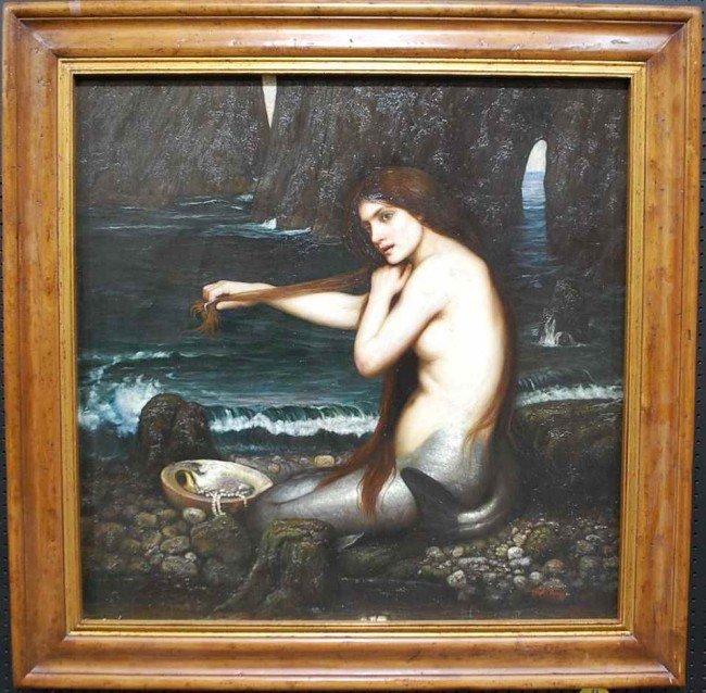 37: Trevor James Original Oil Painting of Mermaid