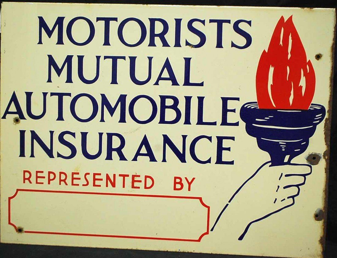 10: MOTORIST MUTUAL INSURANCE SIGN