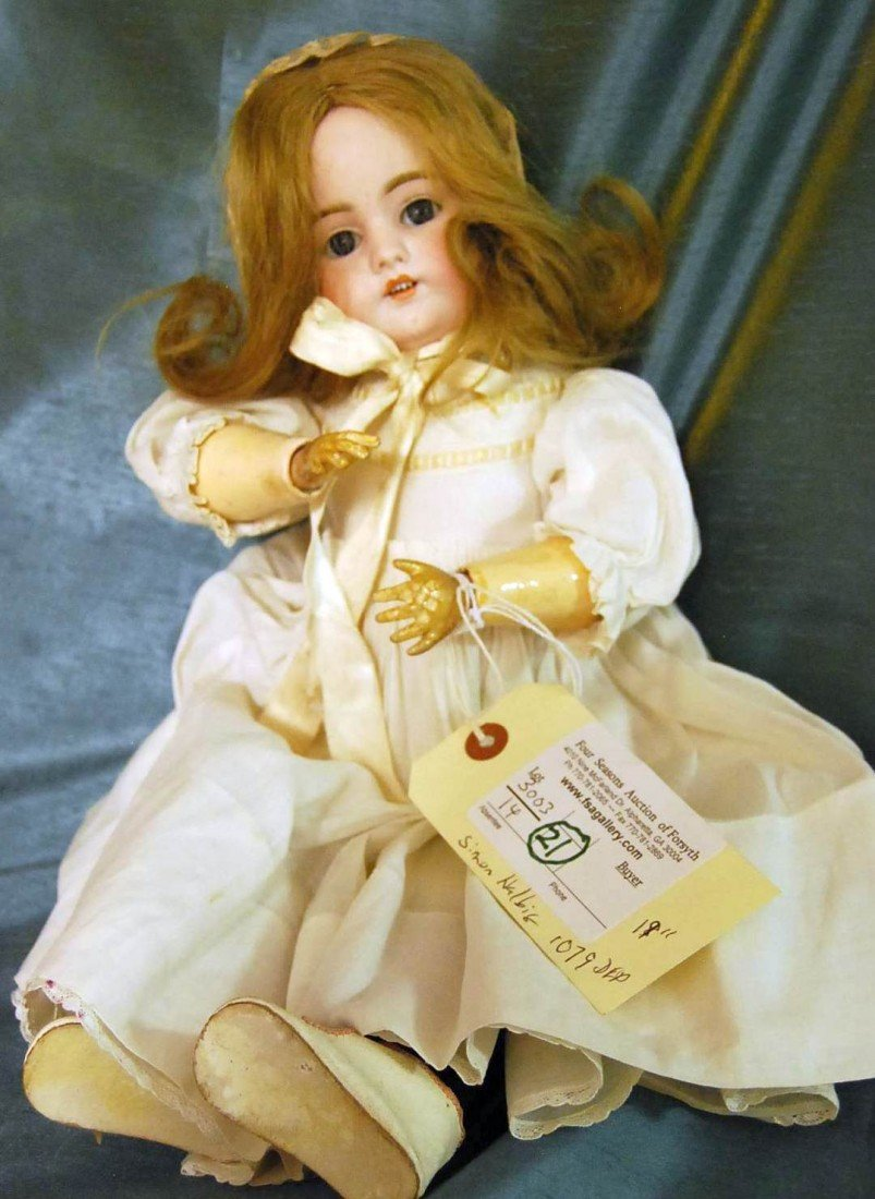 21: SIMON HALBIG BISQUE DOLL 18 INCH