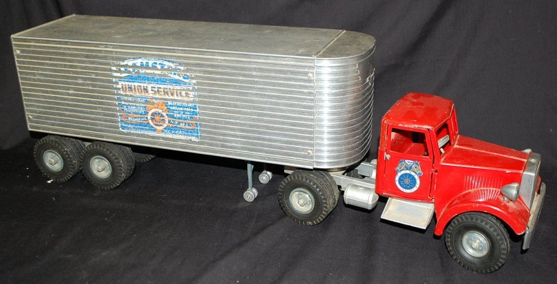 43: TEAMSTERS UNION SERVICE TOY TRUCK & TRAILER