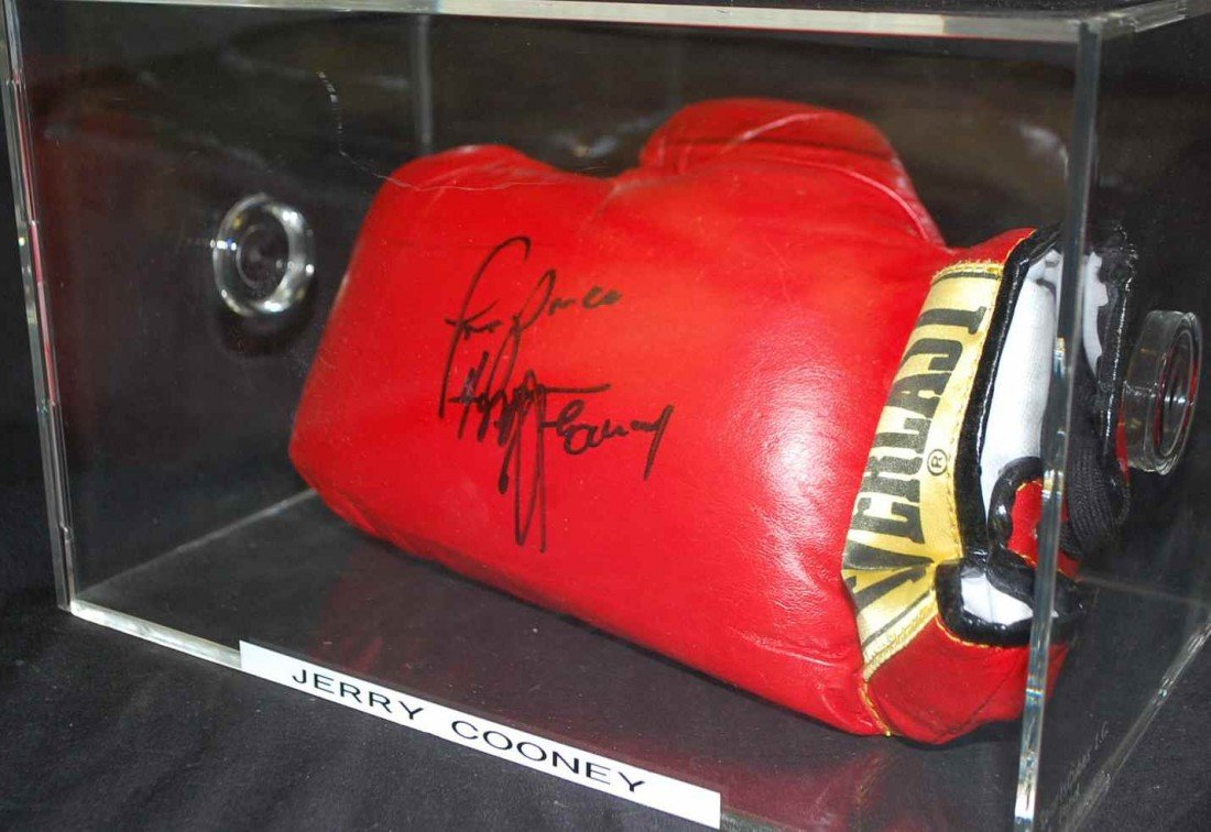 10: JERRY COONEY AUTOGRAPHED BOXING GLOVE