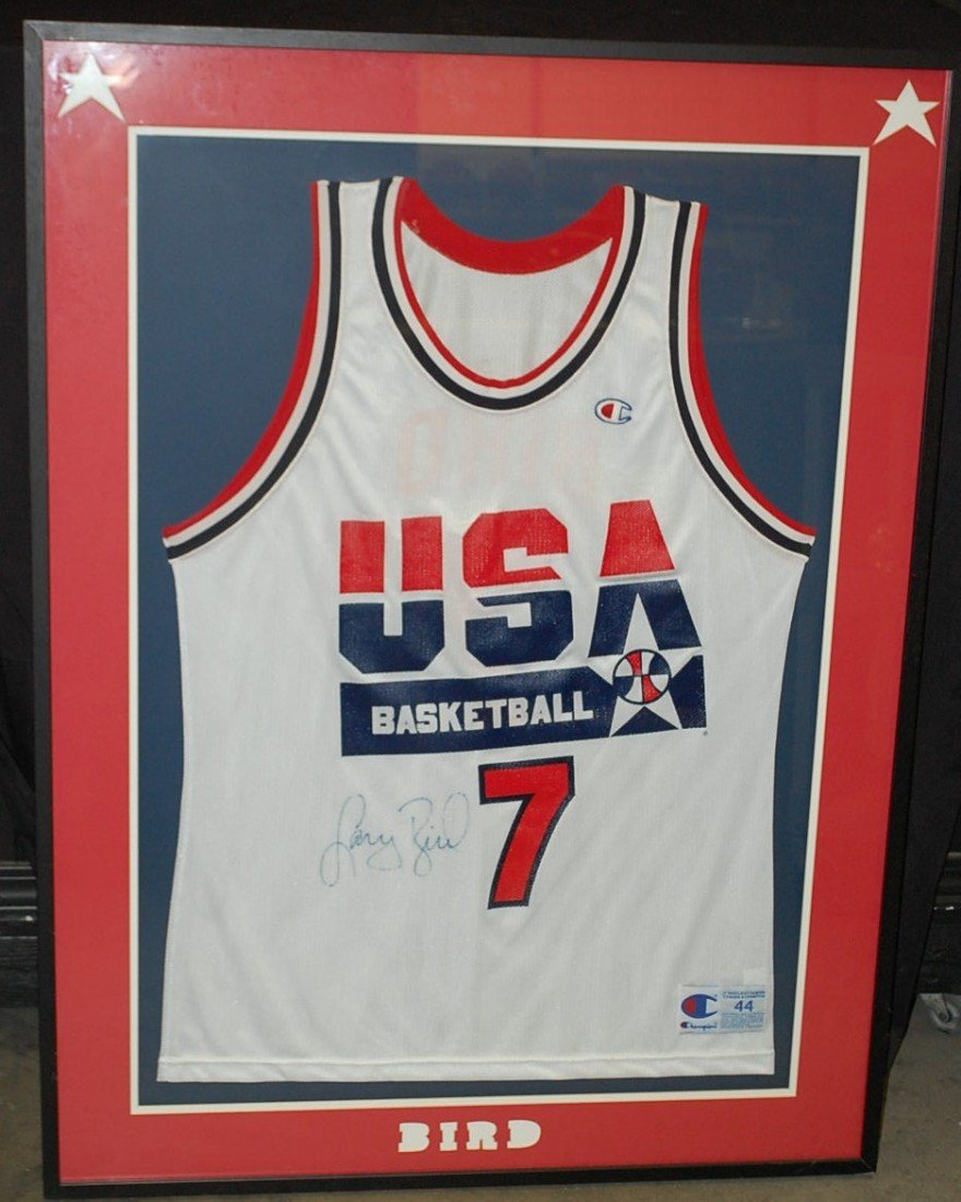 4: LARRY BIRD AUTOGRAPHED OLYMPIC JERSEY
