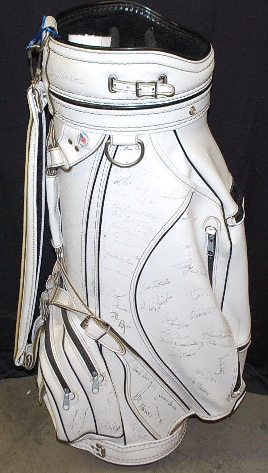 20: SENIOR PGA TOUR GOLF BAG WITH 112 AUTOGRAPHS