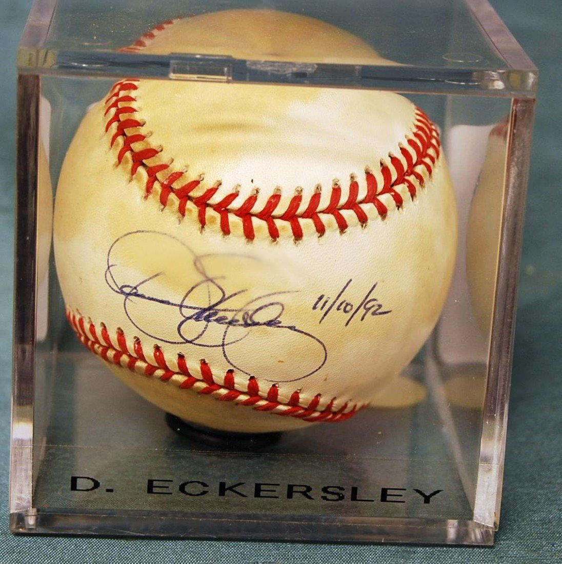 301: D. Eckersley Signed Rawling Baseball