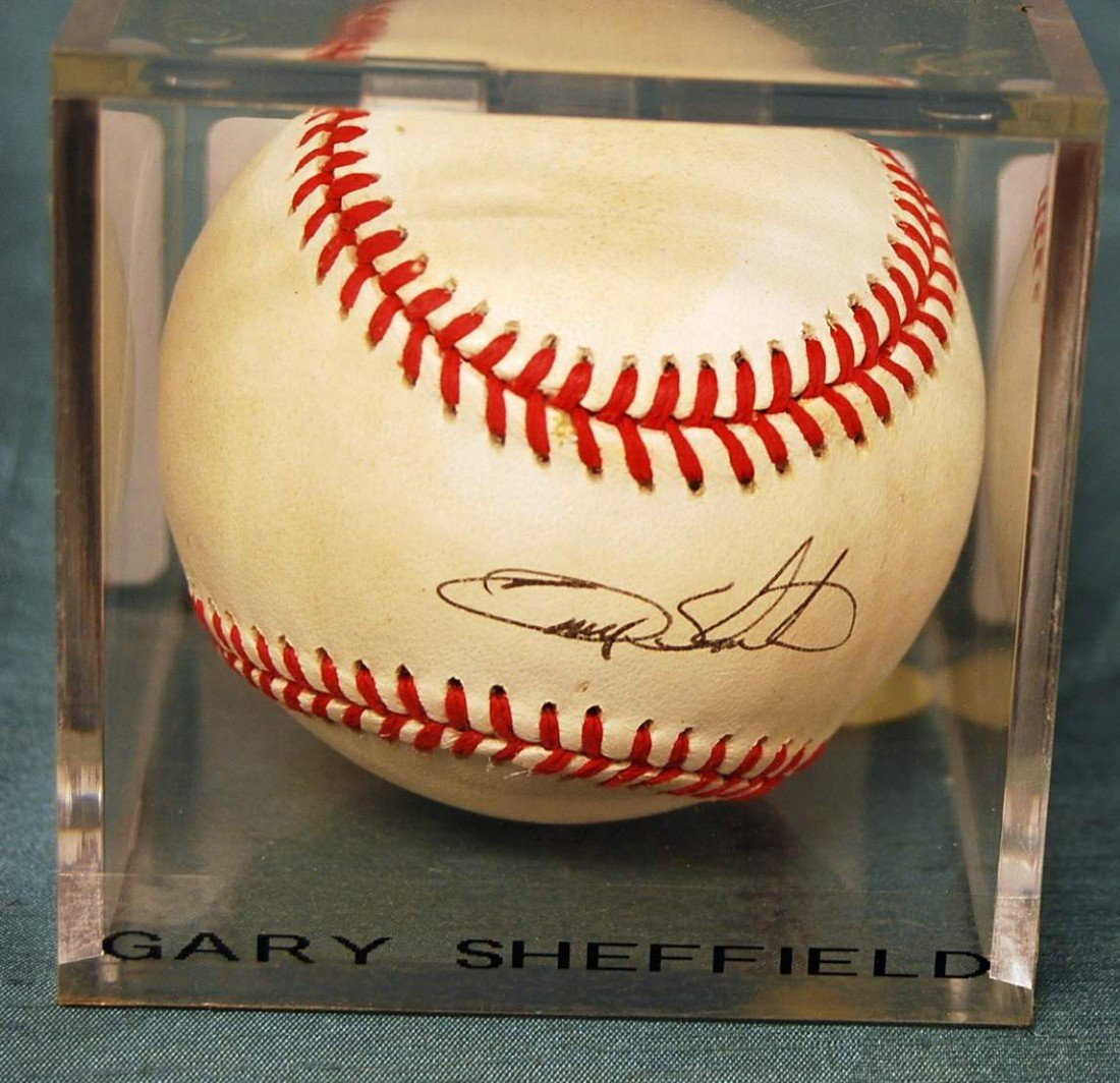 331: GARY SHEFFIELD SIGNED N.L. BALL