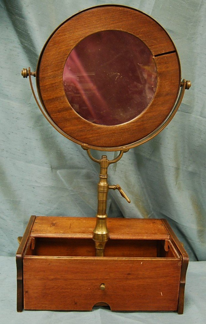 325: LATE 1800'S SHAVING MIRROR