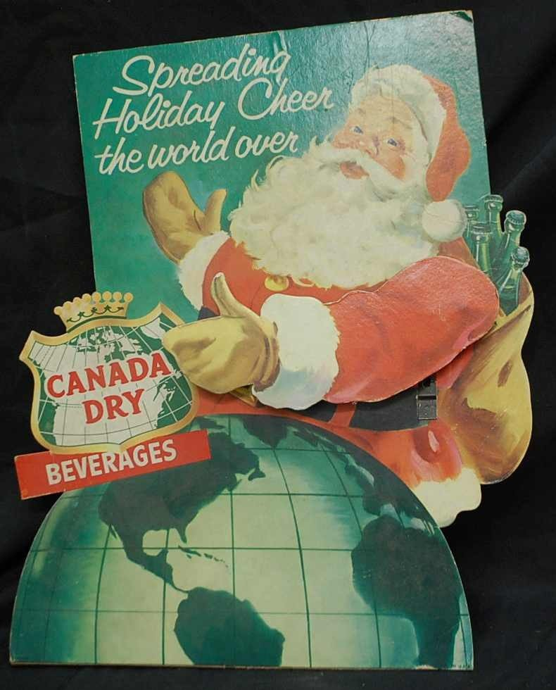 335: VINTAGE MECHANICAL SANTA SELLING CANADA DRY