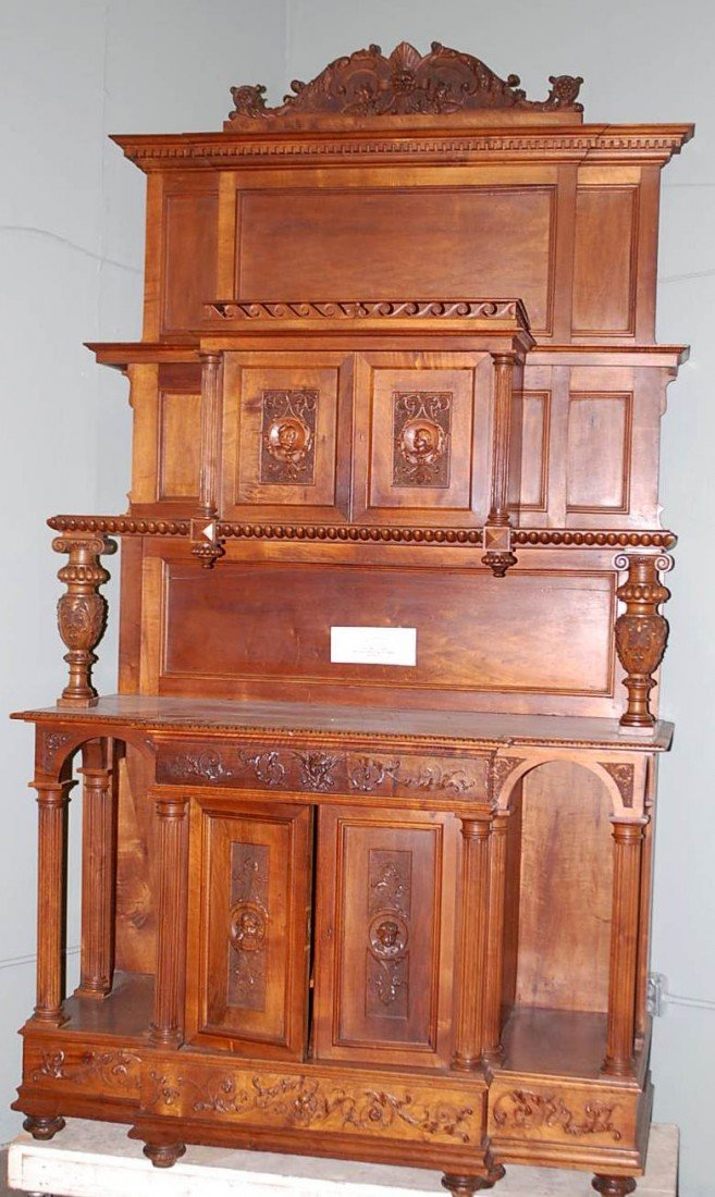 020: FRENCH RENAISANCE WALNUT COURT CUPBOARD