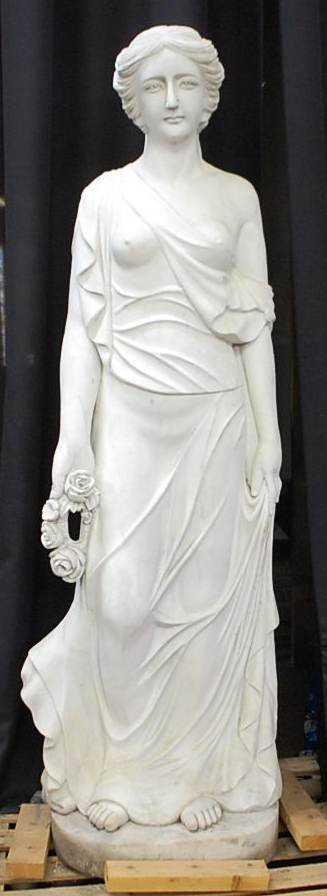 024: LIFESIZE CARVED MARBLE GARDEN MAIDEN