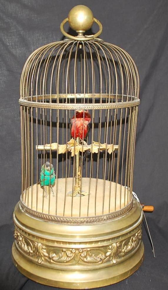 033: LARGE GERMAN SINGING BIRD IN CAGE