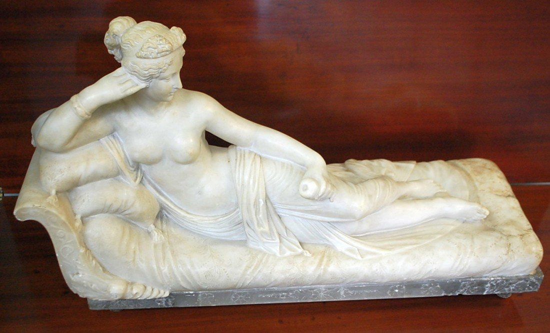 109: CARVED MARBLE PAULINE BORGHESE