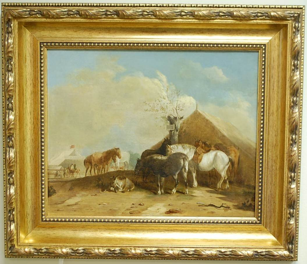 015: THOMAS SMYTHE OIL ON CANVAS PAINTING OF HORSES