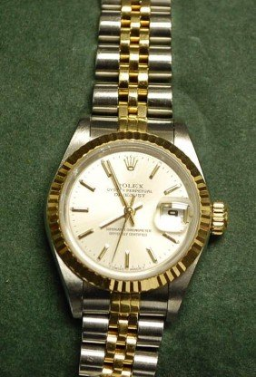 ROLEX 18K GOLD & STAINLESS DATEJUST WATCH