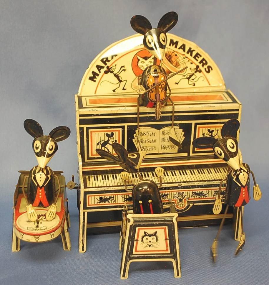 109: MARX MERRY MAKERS CLOCKWORK BAND ORIGINAL BOX!