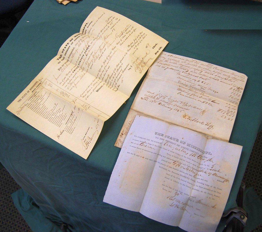 009: LOT OF ANTEBELUM DOCUMENTS OF COURT PROCESS