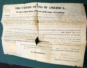 011: PRESIDENT ANDREW JACKSON SIGNED LAND DEED-1835
