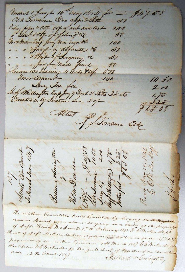 17: 1846 JUDGEMENT W/ SETTLEMENT BY SLAVE LEVY