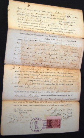 1814  MISSISSIPPI TERRITORY JUDGEMENT WITH SLAVE