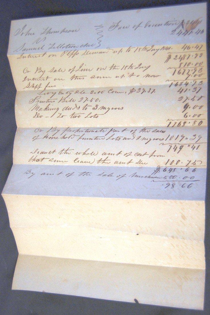 23: 1841 SALE BILL OF SLAVES IN COURT SETTLEMENT
