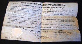 1840 MARTIN VAN BUREN SIGNED LAND DEED