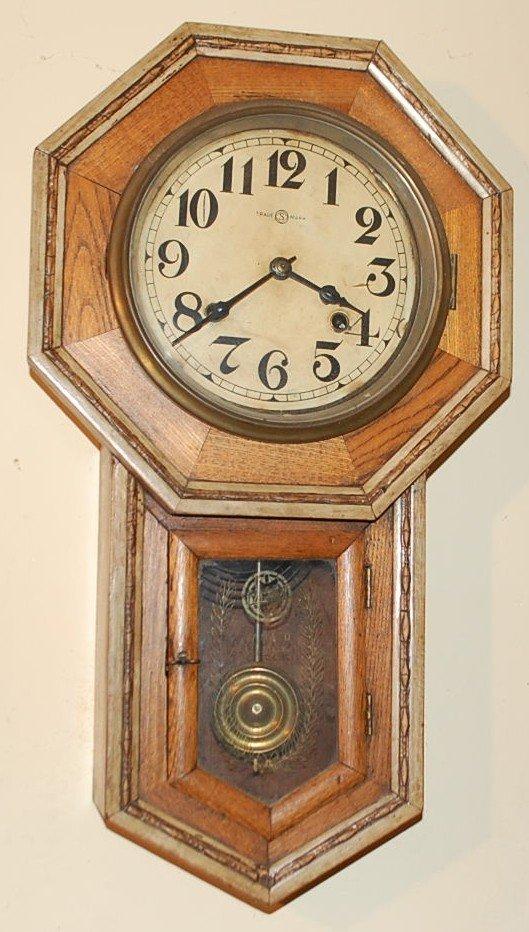 023: SCHOOL HOUSE WALL CLOCK