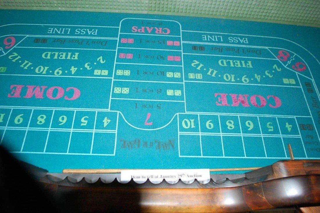 023: VINTAGE WOODEN CRAPS TABLE - 3