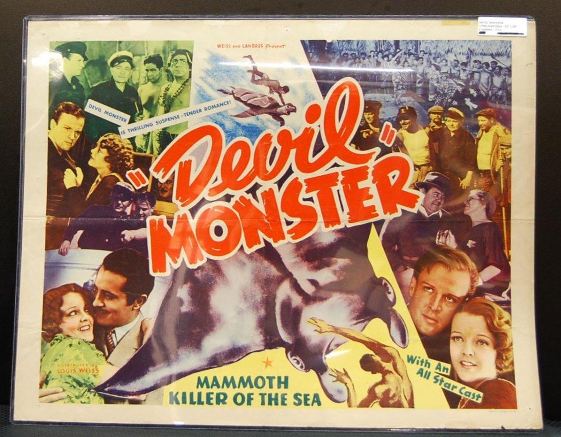 004: Devil Monster 1946 Half Sheet