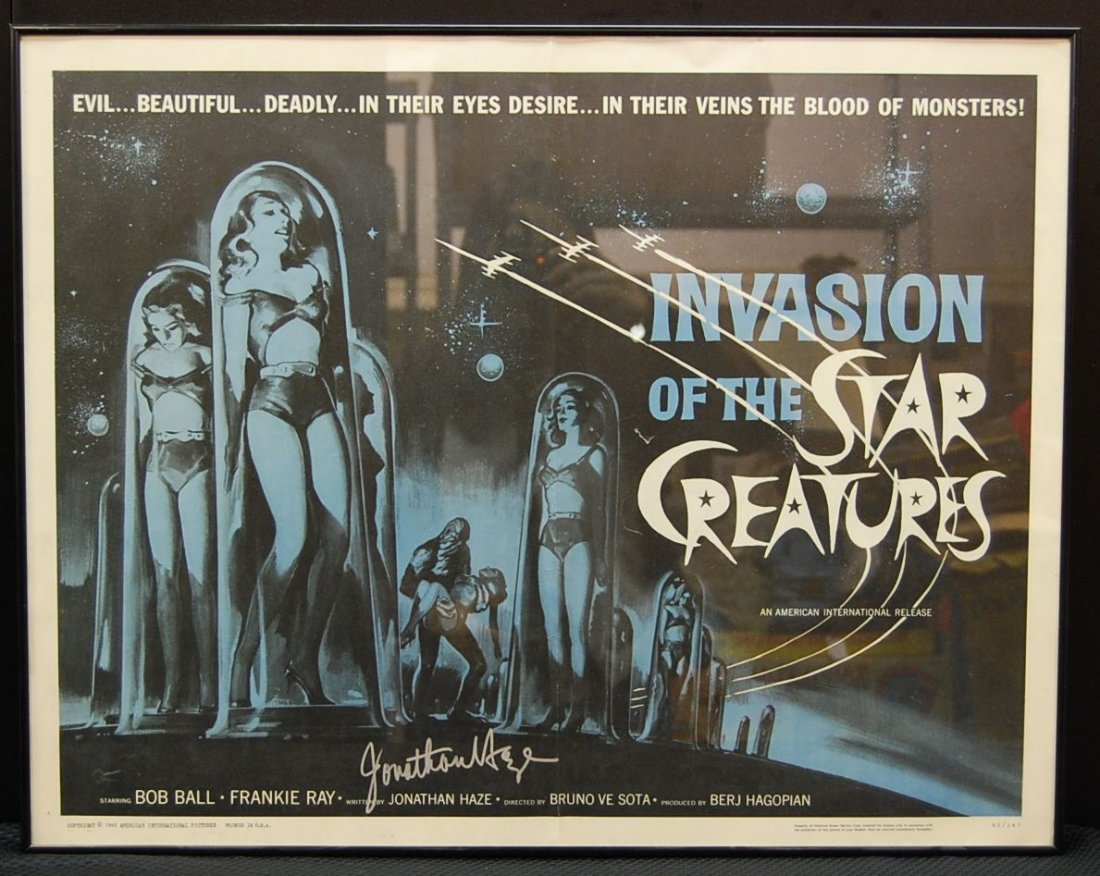 002: Autographed Invasion of the Star Creatures Movie S