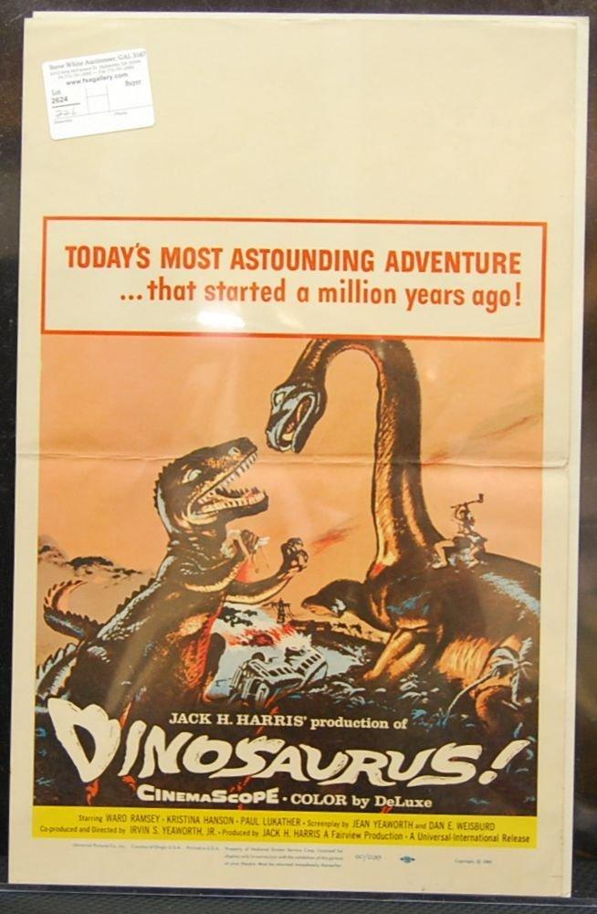 015: Dinosaurus! (1960) Window Card