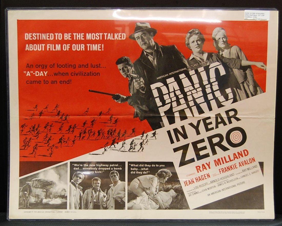 054: Panic in the Year Zero (1962) Half Sheet