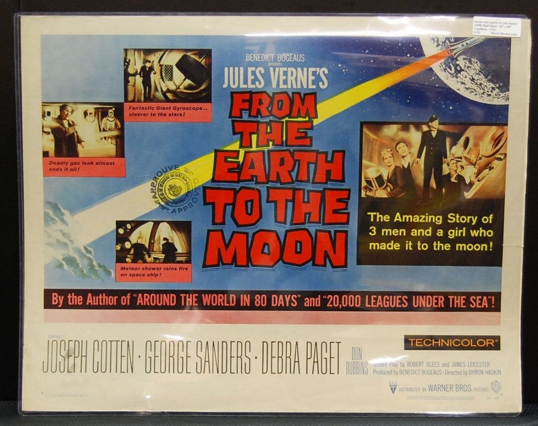 064: From the Earth to the Moon (1958) Half Sheet