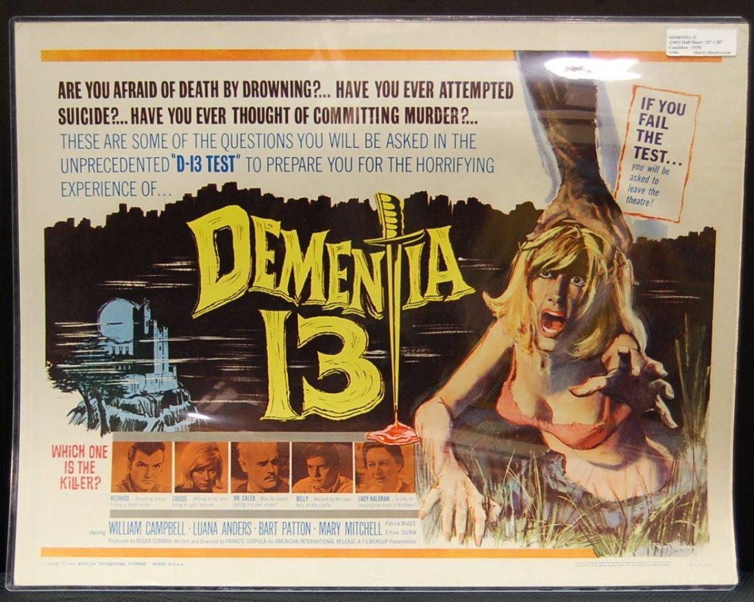 014: Dementia 13 (1963) Half Sheet