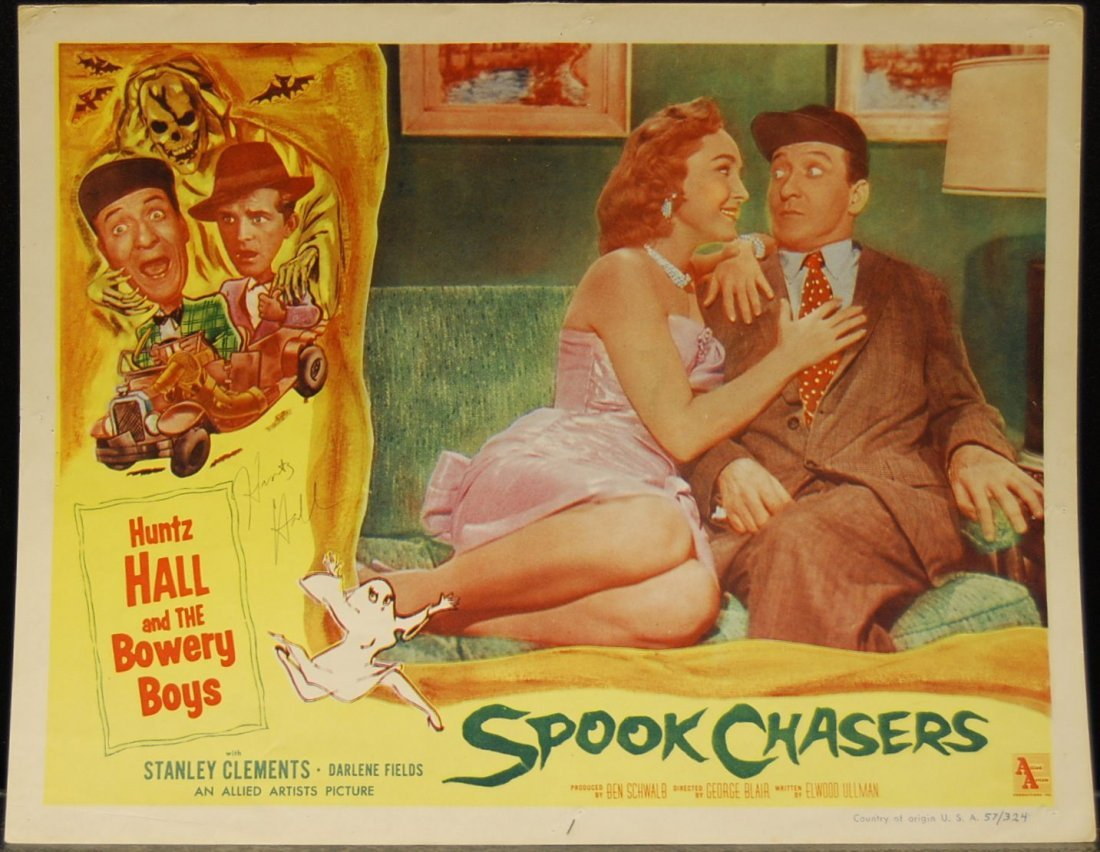 072: Autographed Spook Chasers Movie Card