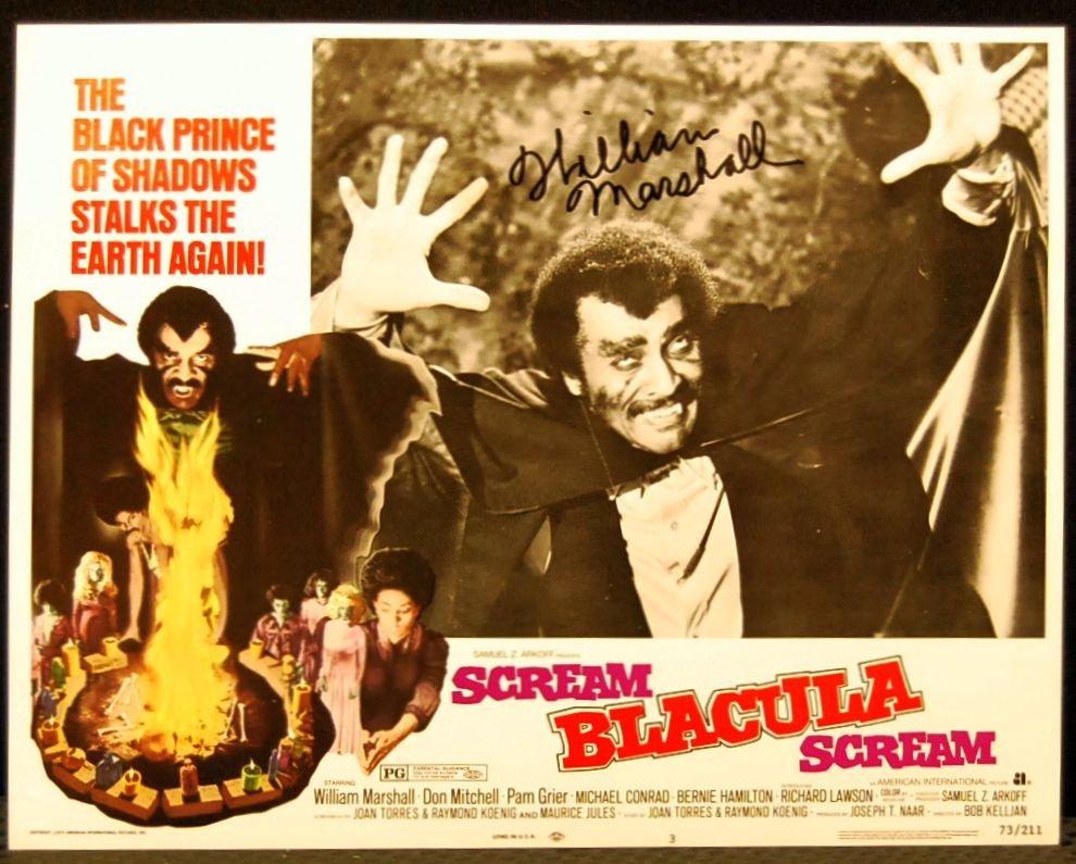 102: Autographed Movie Card From Scream Dracula Scream