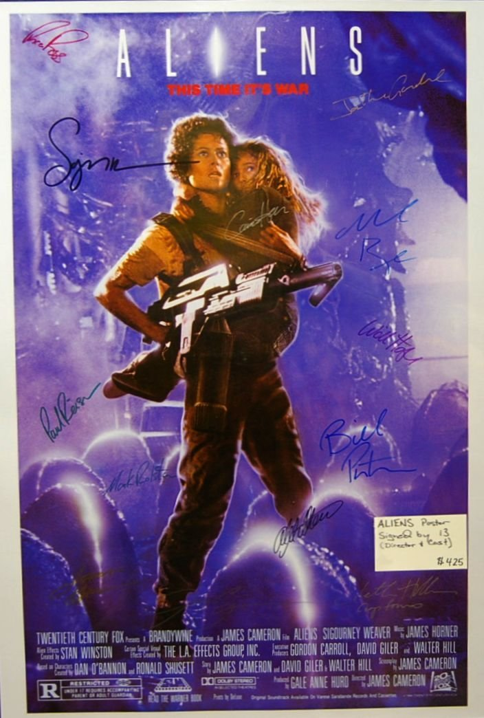199: Aliens One Sheet Autographed by Cast