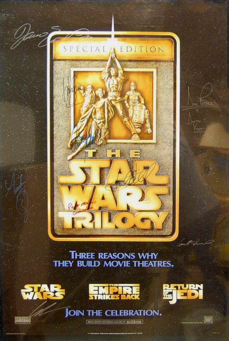 209: Autographed Star Wars Trilogy One Sheet