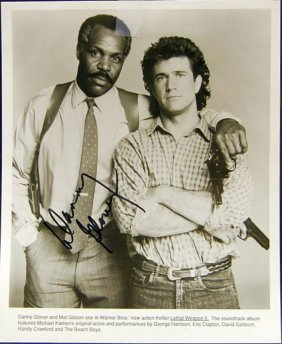 AUTOGRAPHED DANNY GLOVER PROMO PHOTO