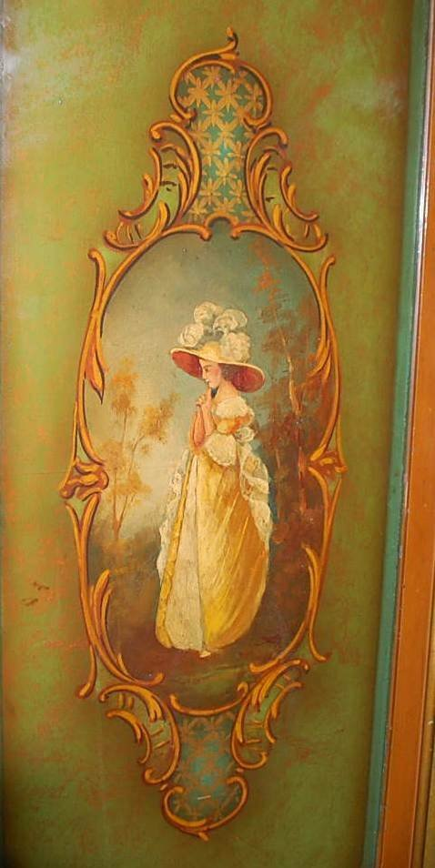 114: HAND PAINTED WINE CABINET - 2