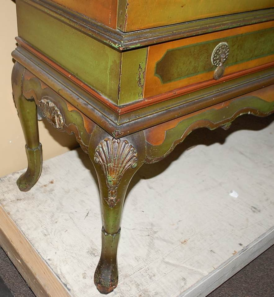 114: HAND PAINTED WINE CABINET - 4