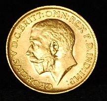 001: England Gold Coin 1912 1 pound Sovereign