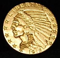 011: 1915 US Gold Coin $5