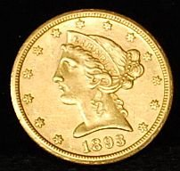021: 1893-S US Gold Coin $5