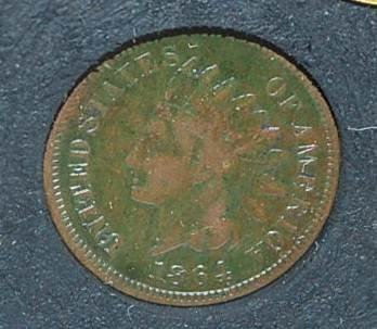 "027: 1864 Indian Head Cent With ""L"""