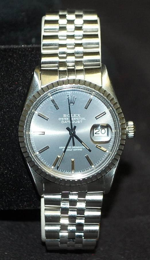 002: Rolex Stainless Steel Datejust Watch