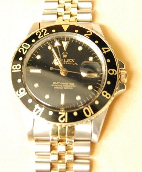 022: Rolex Stainless Steel & 18K Gold GMT-Master Watch