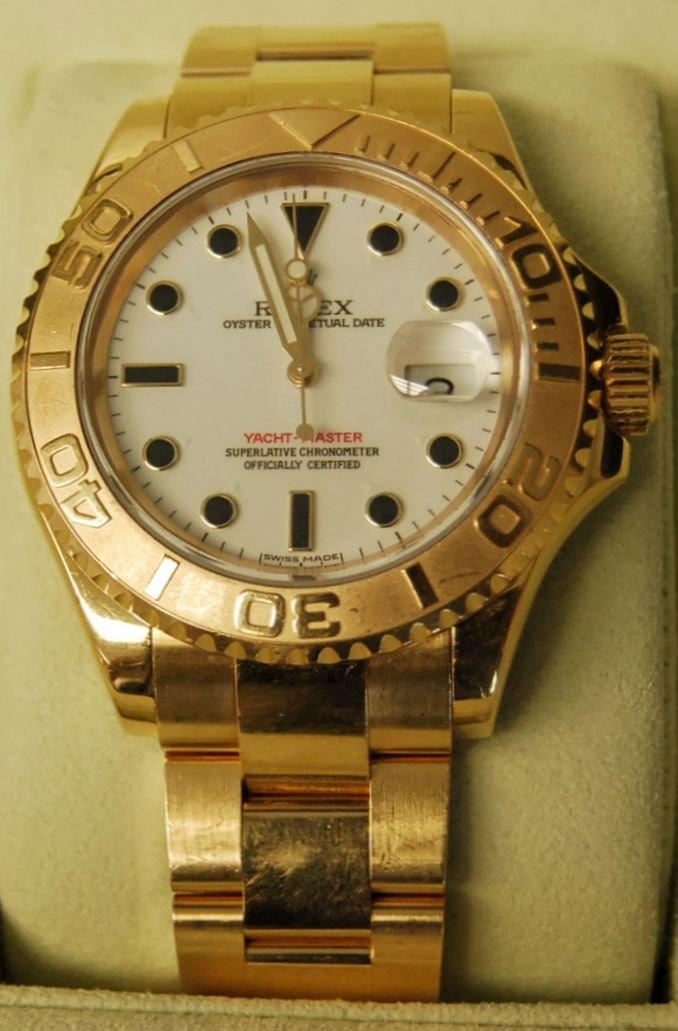 052: Rolex 18K Original Yacht Master Watch